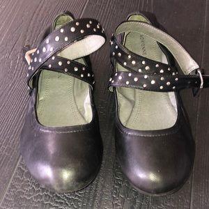 Adrienne Vittadini Ballet Flats 8 Black Leather